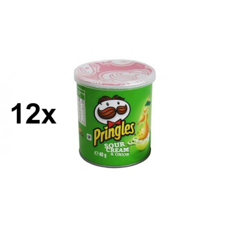 Pringles Sour Cream & Onion 40g 12 Stück